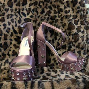 steve madden star studded platform heels